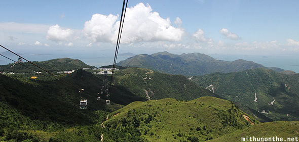 Views from Lantau island cable car