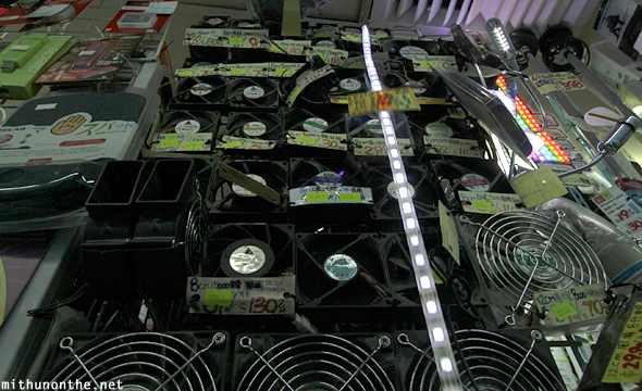 Wall of computer fans Golden Arcade Hong Kong