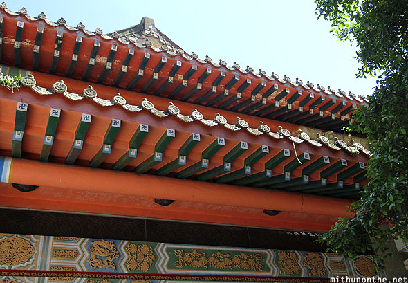 Chinese temple exterior design Hong Kong
