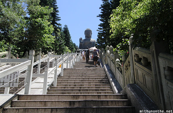 Steps to Big Buddha hill Lantau