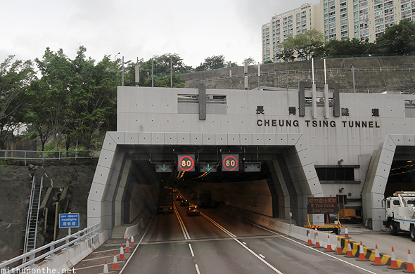 Cheung Tsing tunnel Hong Kong