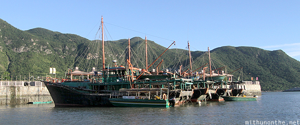 Fishing boats Tai O Lantau Hong Kong