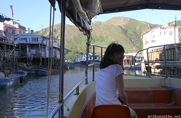 Going on boat ride Tai O village