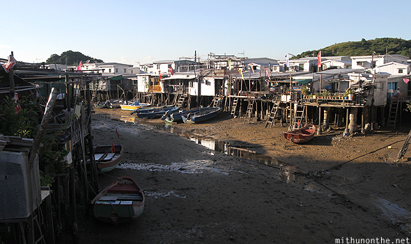 Stilt houses fishing village Hong Kong