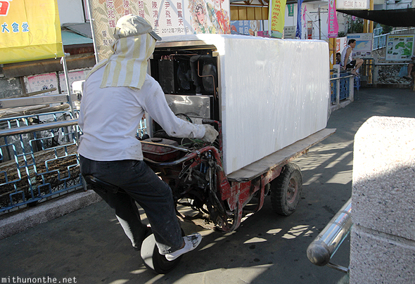 Tai-O village delivery bike Hong Kong