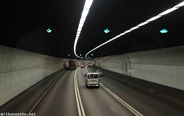 Hong Kong tunnel road