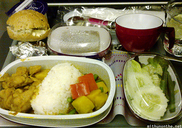 Thai Airways inflight meal Bangalore
