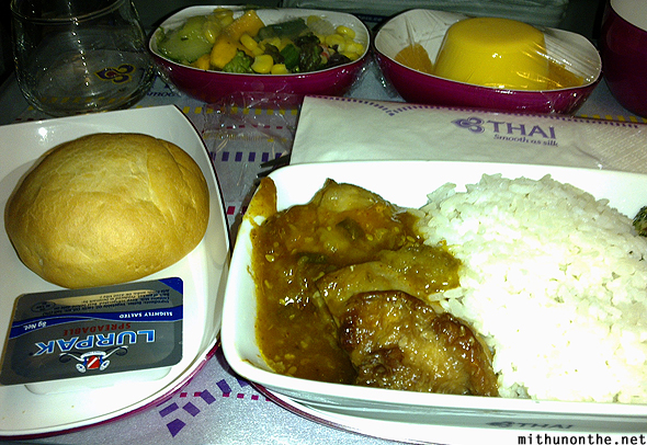 Thai Airways inflight meal Hong Kong