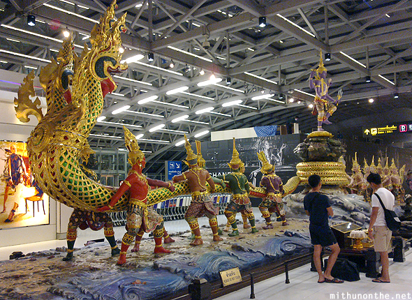 Thai sculpture Suvarnabhumi airport