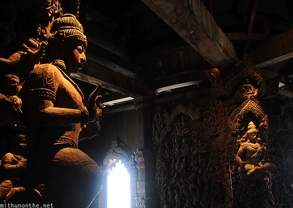 Indian carvings Thailand temple