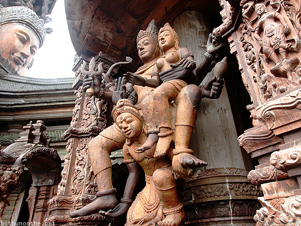 Sanctuary of Truth Indo-Thai sculptures