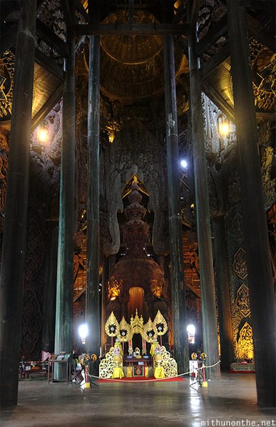 Sanctuary of Truth pillars panorama
