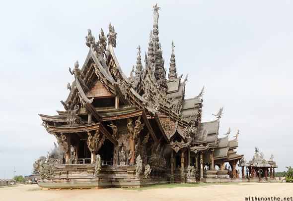 Sanctuary of Truth temple Pattaya Thailand