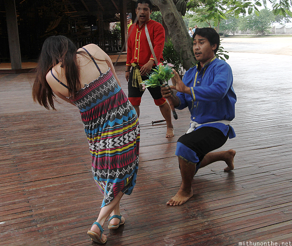 Thai martial arts tourist