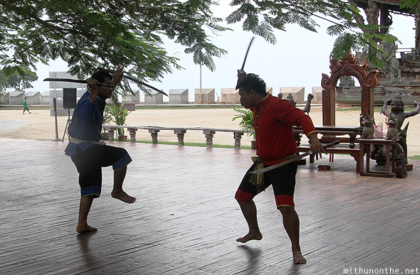 Thai traditional martial arts fighters