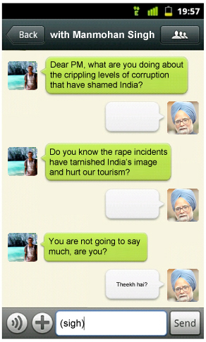 WeChat with Manmohan Singh