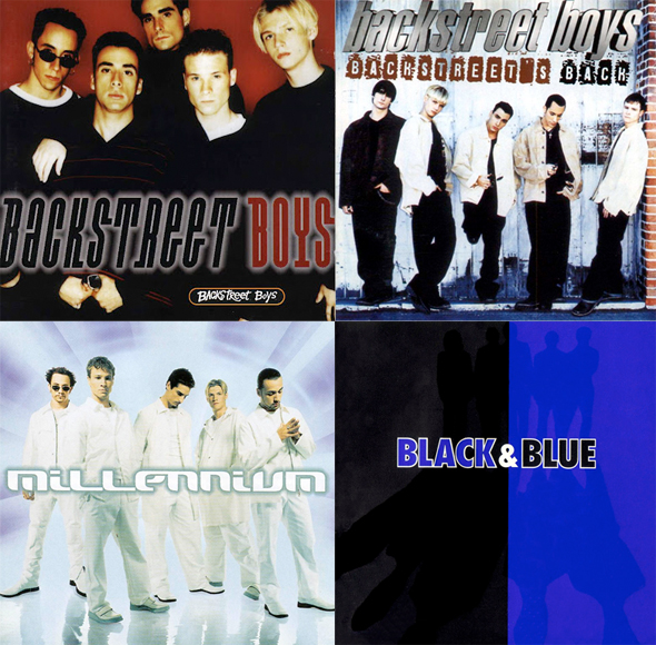 Backstreet boys first 4 album covers