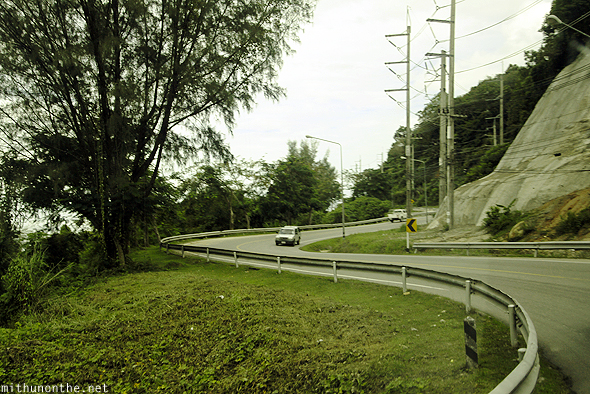 Hill curve road Phuket