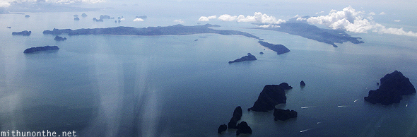 Archipelago Phuket islands from sky