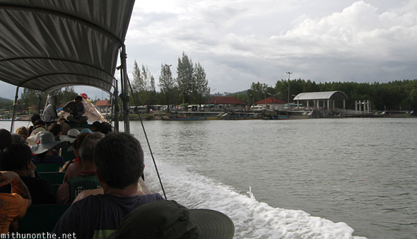 Boat going back to Phang Nga docks