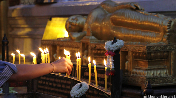 Candles Doi Suthep Chiang Mai Thailand