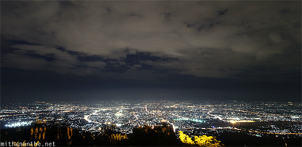 Chiang Mai night sky panorama