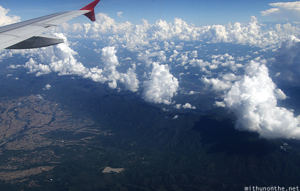 Clouds over hills Thailand