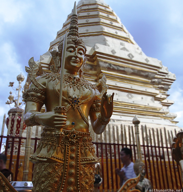 Doi Suthep guard statue Thailand