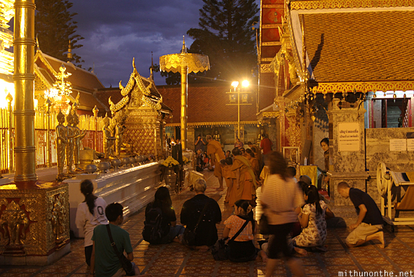 Doi Suthep prayer ceremony Chiang Mai Thailand