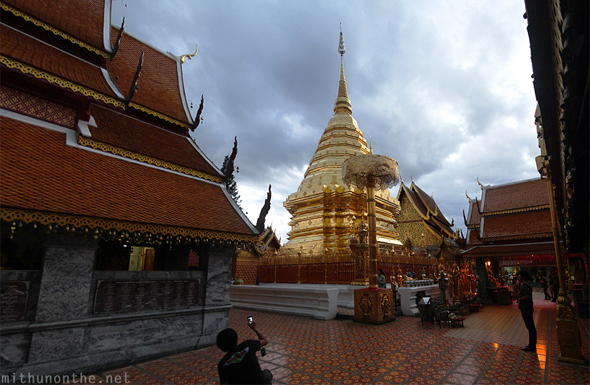 Doi Suthep temple Chiang Mai panorama