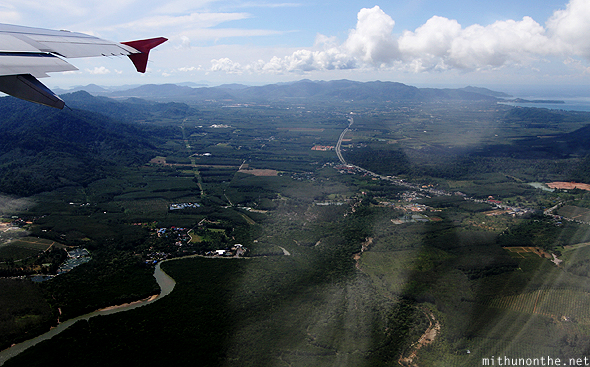 Flying over Chiang Mai Thailand