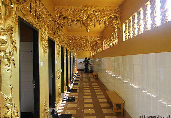 Golden toilet White temple Chiang Rai