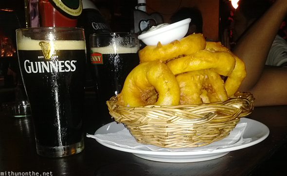 Guinness onion rings irish pub Phuket