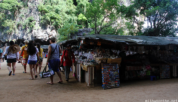 James Bond island shops Thailand