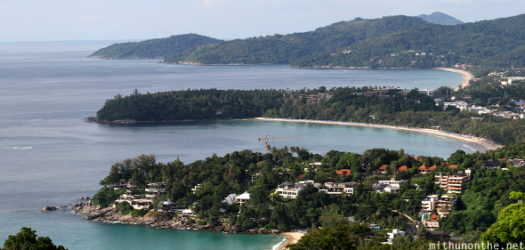 Kata Karon beaches viewpoint Phuket Thailand