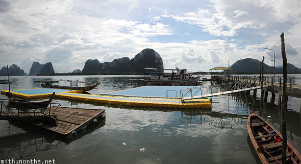 Koh Panyi floating football pitch Thailand