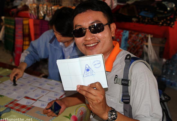 Laos passport stamp Donsao