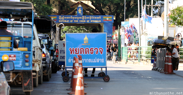Mae Sai crossing border to Myanmar