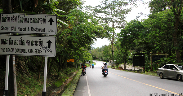 Road to Karon beach Phuket Thailand