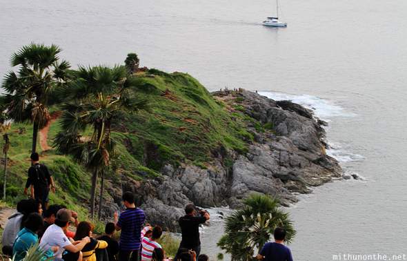 Tourists at Promthep Cape Phuket Thailand