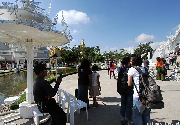 Tourists White Temple Chiang Rai
