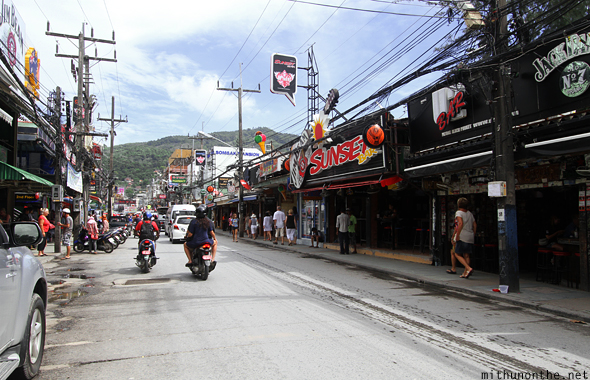 Walking Street during daytime Phuket Thailand