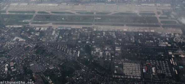 Bangkok airport from sky