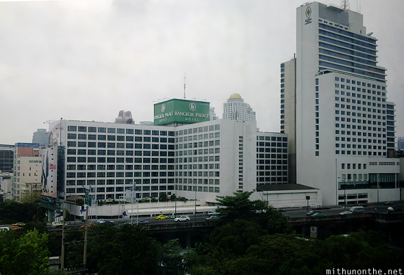 Bangkok Palace hotel from BTS