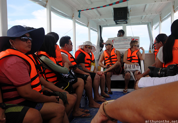 Boat tour Boracay Philippines