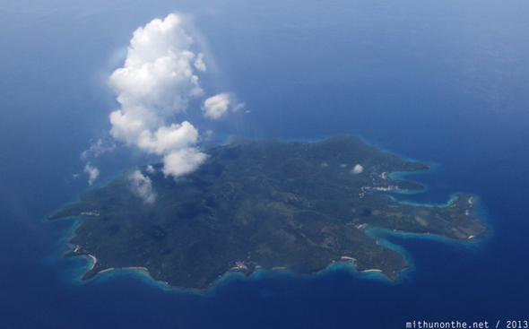 Cloud above island Philippines