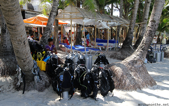 Diving gear oxygen tanks Boracay