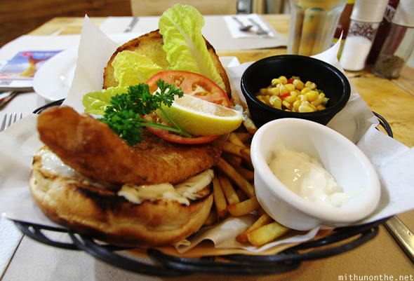 Fish fillet sandwich Boracay Philippines