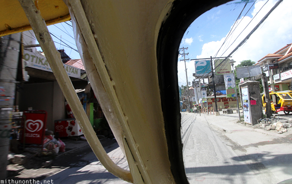 Inside tricycle taxi Boracay