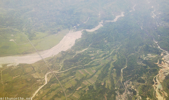 Mud slides Philippines aerial view